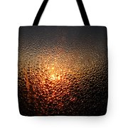 February Morning Dew Drops Tote Bag