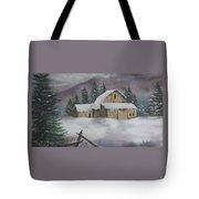 February Snowstorm Tote Bag