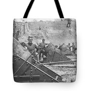 Federal Siege Guns Yorktown Virginia During The American Civil War Tote Bag