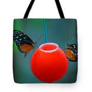 Feeding Butterflies Tote Bag