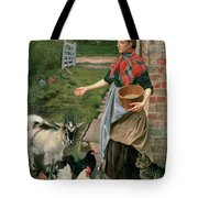 Feeding The Chickens Tote Bag