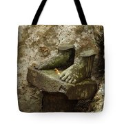Cambodia Carved Feet Tote Bag