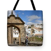 Felipe V Arch In Ronda Tote Bag