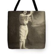 Female Baseball Player Tote Bag