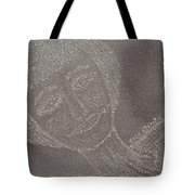 Female  Face  On  Steel  Two Tote Bag