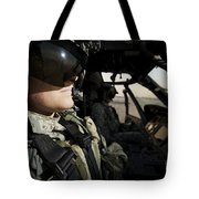 Female Pilot Commander In The Cockpit Tote Bag