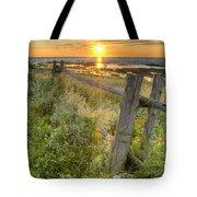 Fence Along The Shore Tote Bag