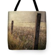 Fence And Field. Trossachs National Park. Scotland Tote Bag