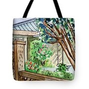 Fence Sketchbook Project Down My Street Tote Bag by Irina Sztukowski