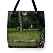 Fenced In Field Tote Bag