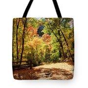 Fenced Path Through Autumn Forest - Blacksmith Fork Canyon - Utah Tote Bag