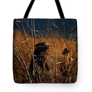 Fencepost And Thistles Tote Bag