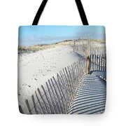 Fences Shadows And Sand Dunes Tote Bag