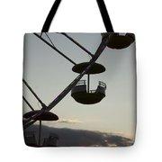 Ferris Wheel Silhouette Tote Bag