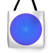 Fibonacci Figure With White Elements On Blue Tote Bag