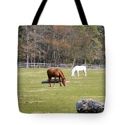 Field Of Horses Tote Bag