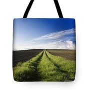 Field Path In Limagne. Auvergne. France. Europe Tote Bag