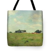 Field With Trees And Sky Tote Bag