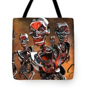 Fierce Androids Riot The City Of Tokyo Tote Bag