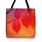 Fiery Colors Tote Bag