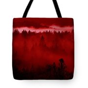 Fiery Forest  Tote Bag