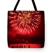 Fiery Fourth Tote Bag by Peter Mooyman