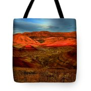 Fiery Painted Hills Tote Bag