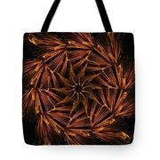 Fiery Pinwheel Tote Bag