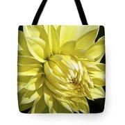 Figaro Yellow Dahlia Tote Bag