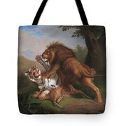 Fight Of A Lion With A Tige Tote Bag