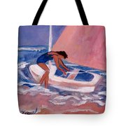 Fighting To Sail Tote Bag