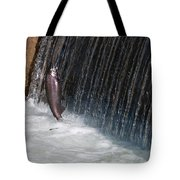Fighting Upstream Tote Bag