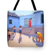 Filling Water Buckets Tote Bag