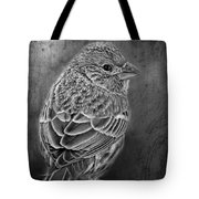 Finch Black And White Tote Bag