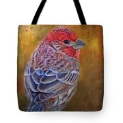 Finch With Gold Texture Tote Bag