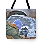 Fine Tuning Buffalo At Winter Fest Tote Bag