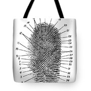 Fingerprint Diagram, 1940 Tote Bag