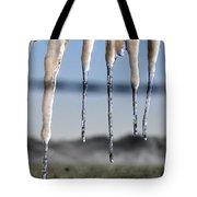 Fingers Of Winter Tote Bag