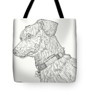 Finn In Black And White Tote Bag