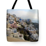 Fira In Santorini Tote Bag