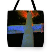 Fire And Cross Tote Bag