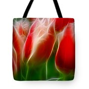 Fire And Ice Fractal Panel 1 Tote Bag