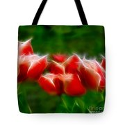 Fire And Ice Fractal Panel 2 Tote Bag