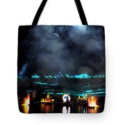 Fire Earth Water Meet Lasers Tote Bag