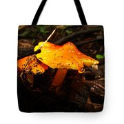 Fire In The Forest - Hygrocybe Cuspidata Tote Bag