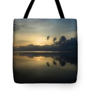 Fire In The Morning Tote Bag