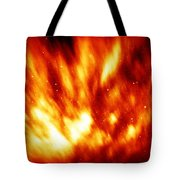 Fire In The Starry Sky Tote Bag