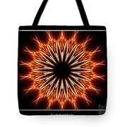 Fire Kaleidoscope Effect Tote Bag