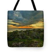 Fire Over The Outer Banks Tote Bag