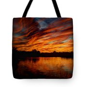 Fire Sky II  Tote Bag